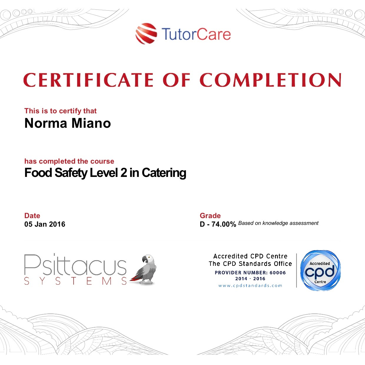 free online food safety certification course