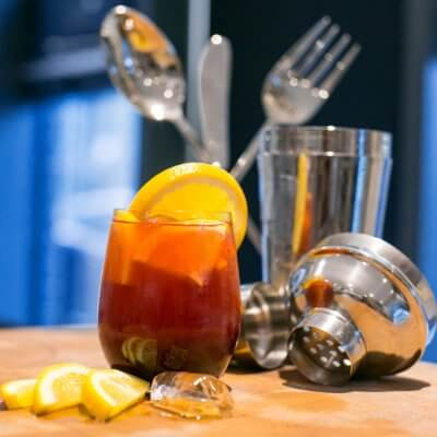 Sangria with fresh orange and lemon slices