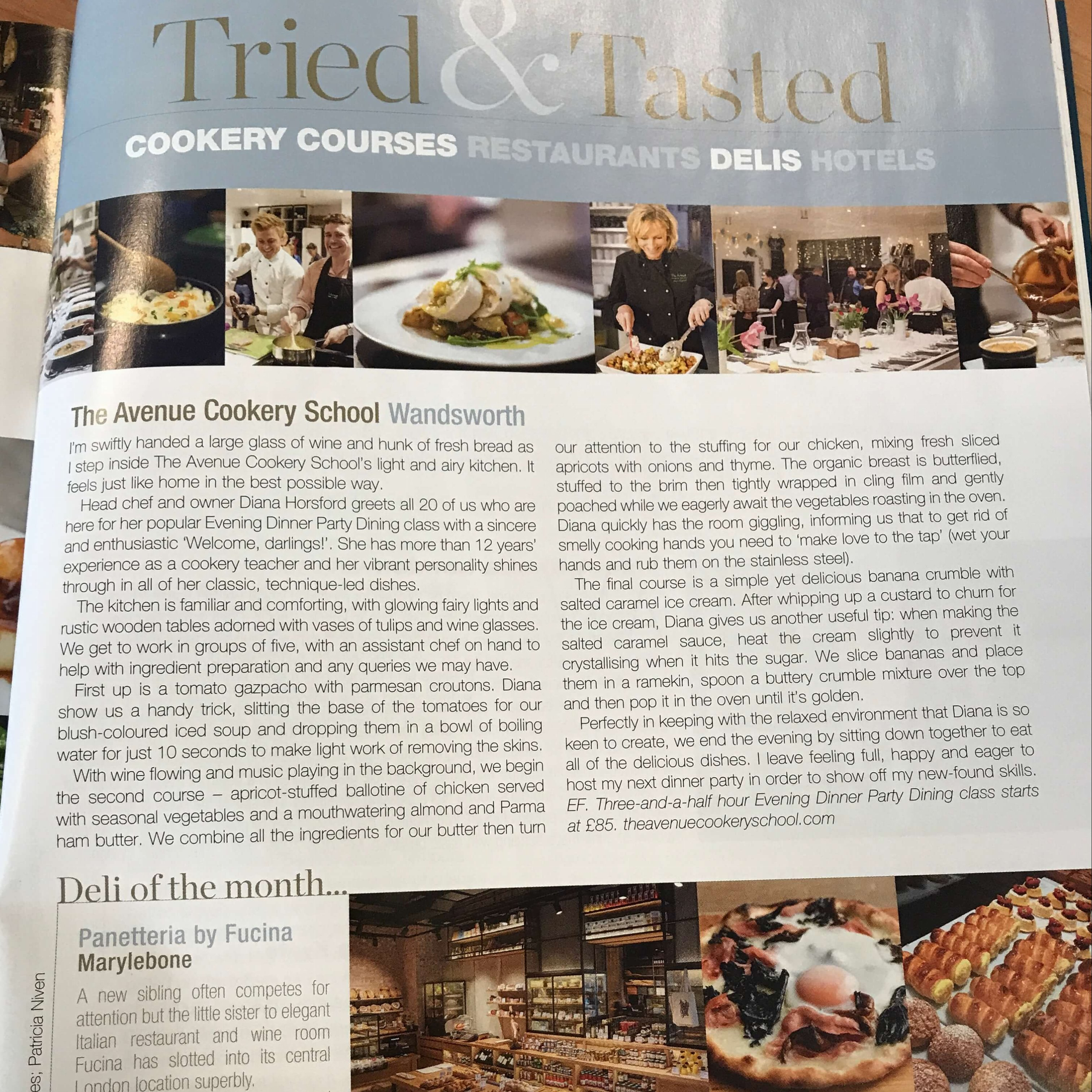 Review in Food and Travel Magazine
